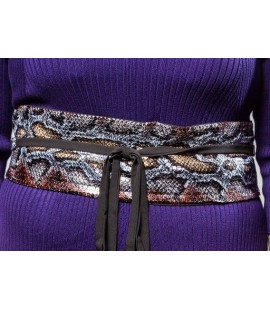 IGIGI  Snake Skin Print Wrap Belt Fits Sizes 14-20