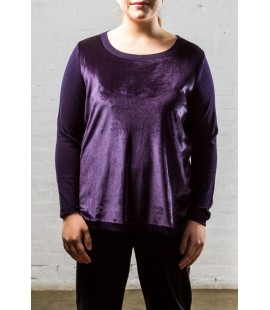 LANE BRYANT PURPLE VELOUR SIZE 14/16 NEW