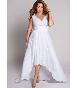 IGIGI HIGH LOW SLEEVELESS WEDDING DRESS SIZE 14/16
