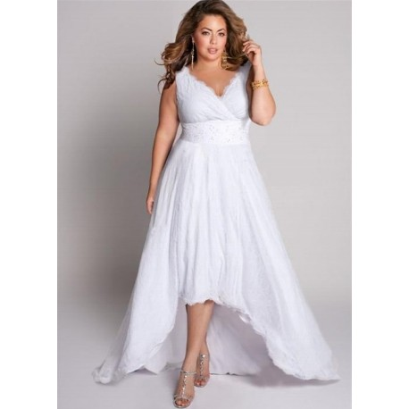 IGIGI HIGH LOW SLEEVELESS WEDDING DRESS SIZE 14/16
