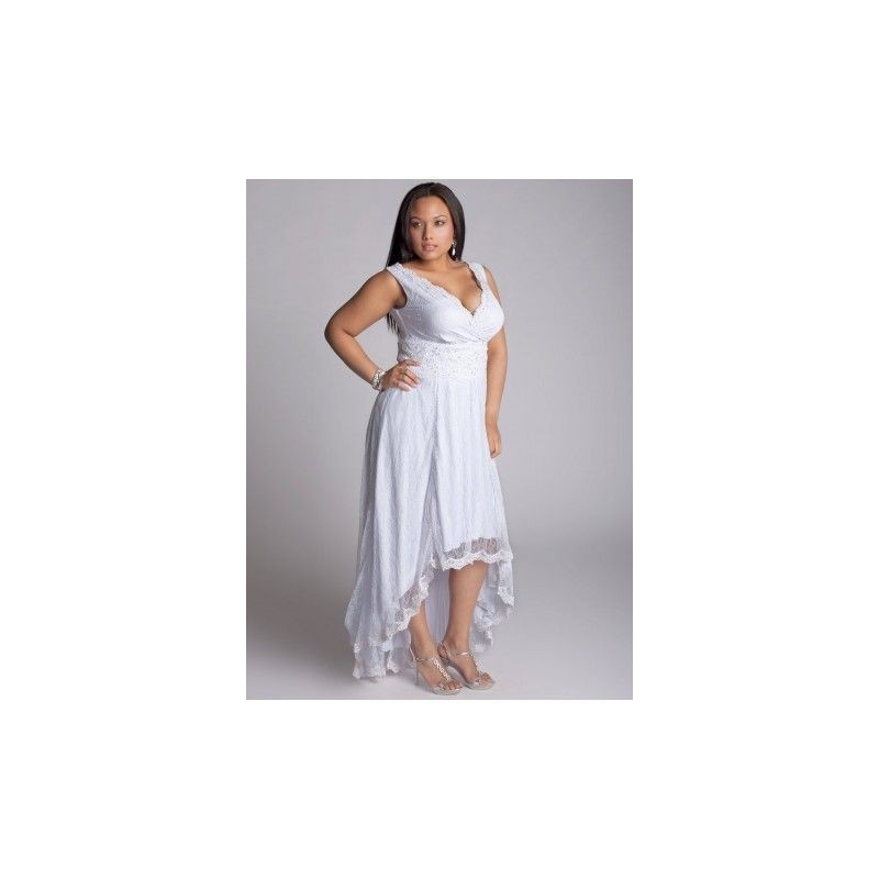 Plus Size Igigi High Low Sleeveless Wedding Dress Size 1416