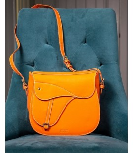 SUSU ORANGE SHOULDER SADDLE BAG