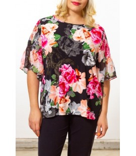 CITY CHIC FLORAL FLUTED 3/4 SLEEVE SIZE 14 NEW