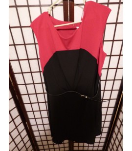 Calvin Klein Classic Pink & Black Dress