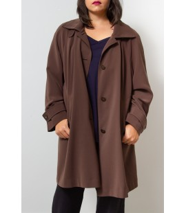 GALLERY BROWN TRENCH COAT 2X