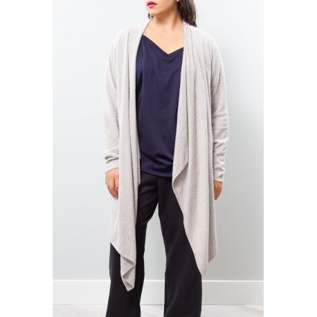 BAREFOOT DREAMS GRAY CARDIGAN 2X