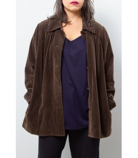 J.JILL CORDUROY BROWN JACKET XL