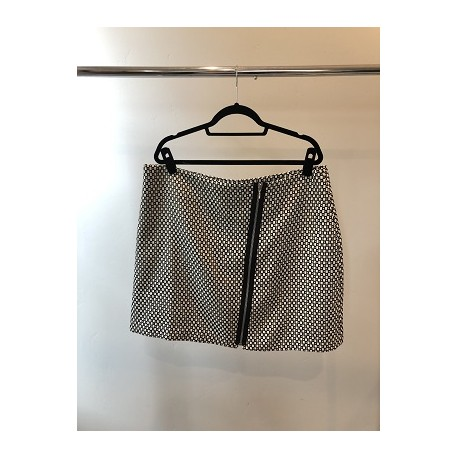 Be Geo Print Zip Mini Skirt Size 16