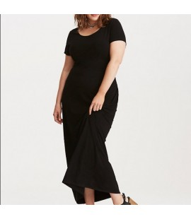 Torrid Black Knit Long Dress Size 4